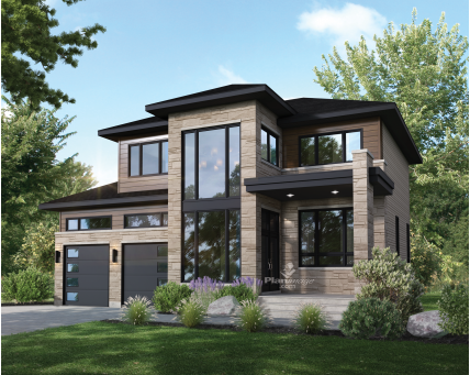 House plans - Two-storey house - New models - 21008