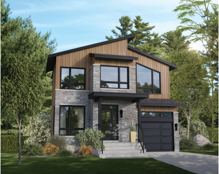 House plans - Two-storey house - New models - 21348