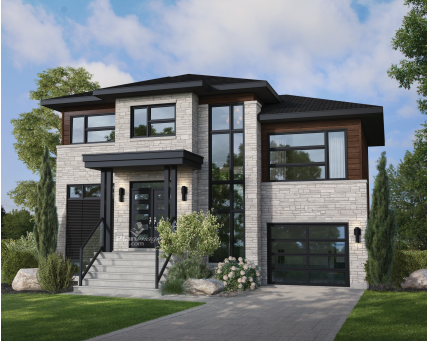 House plans - Two-storey house - New models - 21878
