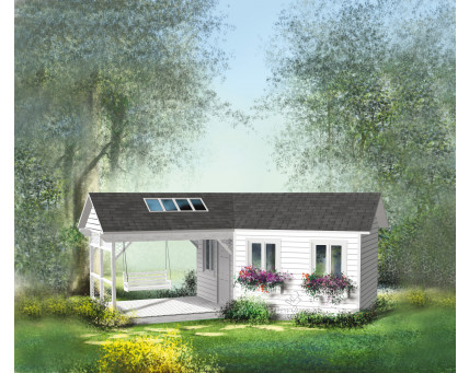 Shed with deck - BT-1027