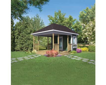 Shed with deck - BT-1061
