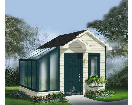 Shed with greenhouse - R-16A