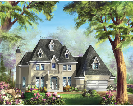 Two-storey house - Collection Conception Liberté - Collection Les designs N. Charlebois inc. - CCL00047