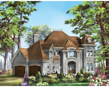 Two-storey house - Collection Conception Liberté - Collection Les designs N. Charlebois inc. - CCL00050
