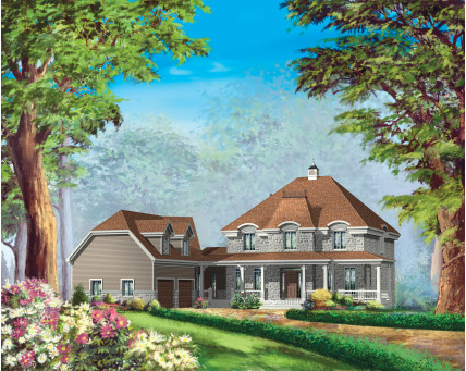 Two-storey house - Collection Conception Liberté - Collection Les designs N. Charlebois inc. - CCL00061