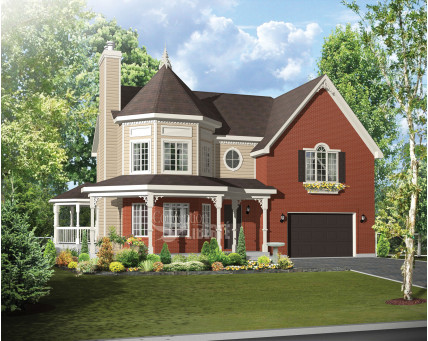 Two-storey house - Collection Conception Liberté - Collection Les designs N. Charlebois inc. - CCL00066