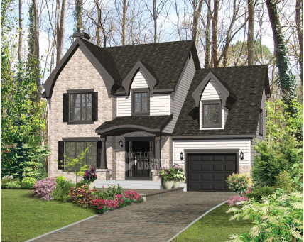 Two-storey house - Collection Conception Liberté - Collection Les designs N. Charlebois inc. - CCL00069