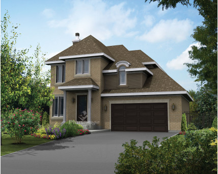 Two-storey house - Collection Les designs N. Charlebois inc. - DNC228007