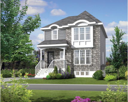Two-storey house - Collection Les designs N. Charlebois inc. - DNC228008