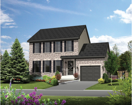 Two-storey house - Collection Les designs N. Charlebois inc. - DNC232003