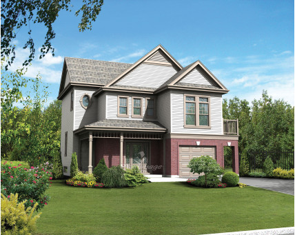 Two-storey house - Collection Les designs N. Charlebois inc. - DNC236007